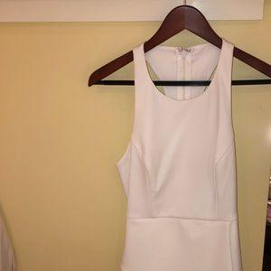 BCBG White Dress with Corset Racerback